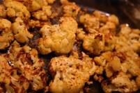Vegan Low Carb Roasted Cauliflower Recipe made in Oven or Air Fryer in pan after roasting completed